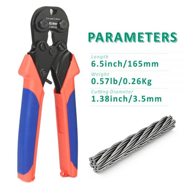 iCrimp wire rope cutter CWR35 parameters