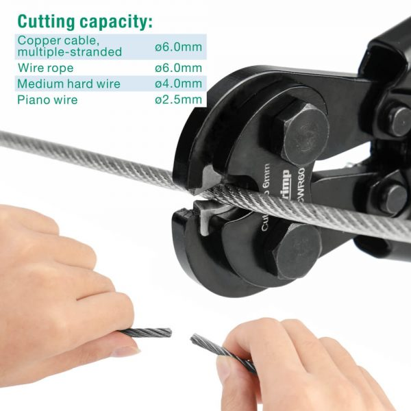 iCrimp wire rope cutter CWR60 cutting capacity